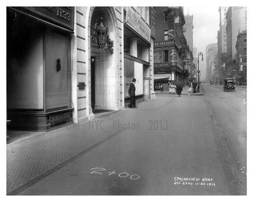 7th Avenue between & 36th Street - Chelsea  NY 1915 Old Vintage Photos and Images