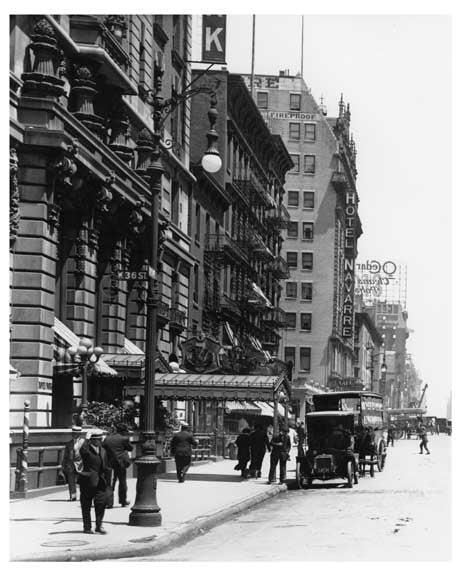 7th Avenue between &  36th Street  - Midtown Manhattan - 1915 NYC Old Vintage Photos and Images