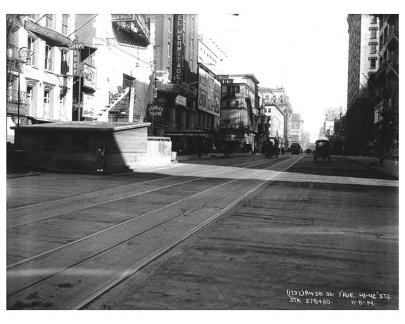7th Avenue between 41st & 42nd Streets Avenue - Midtown - Manhattan  1914 Old Vintage Photos and Images