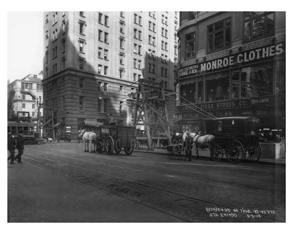 7th Avenue between 42nd & 43rd Streets Avenue - Midtown - Manhattan  1914 Old Vintage Photos and Images
