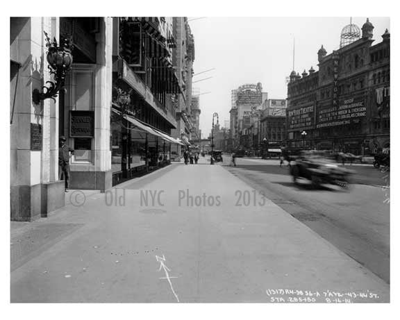 7th Avenue between 43rd & 44th Street - Midtown - Manhattan  1914 Old Vintage Photos and Images