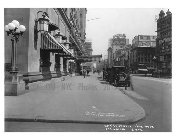 7th Avenue between 43rd & 44th Street - Midtown - Manhattan  1914 NYC Old Vintage Photos and Images