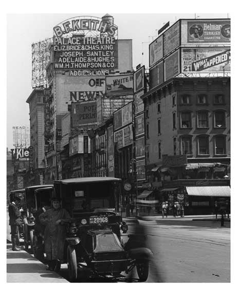 7th Avenue between 43rd & 44th Street - Midtown - Manhattan  1914 A Old Vintage Photos and Images