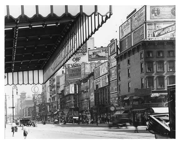7th Avenue between  44th & 45th Streets - Midtown - Manhattan  1914 B Old Vintage Photos and Images