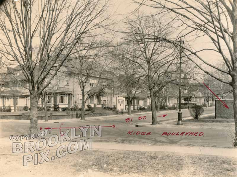 81st Street and Ridge Boulevard, 1929