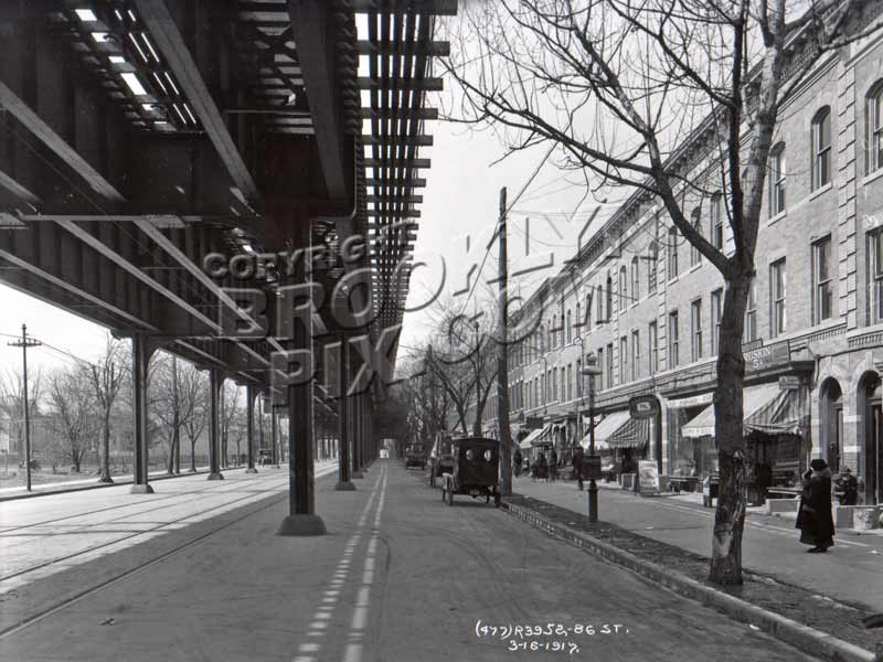 86th St looking northwest to 21st Avenue, 1917