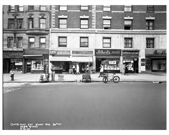 86th Street & Broadway Storefronts 1957 - Upper West Side - Manhattan - New York, NY Old Vintage Photos and Images
