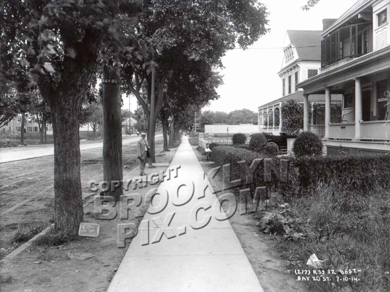 86th Street looking NW from Bay 20th, 1914