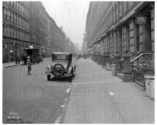 88th St & East End Ave West Manhattan NYC 1931 Old Vintage Photos and Images