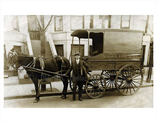 8th Ave & 12th Street - produce wagon Old Vintage Photos and Images