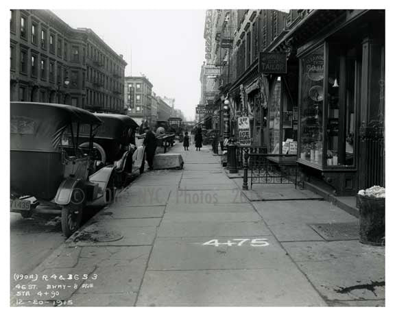 8th Avenue  & 46th Street  - Midtown Manhattan - 1915 Old Vintage Photos and Images