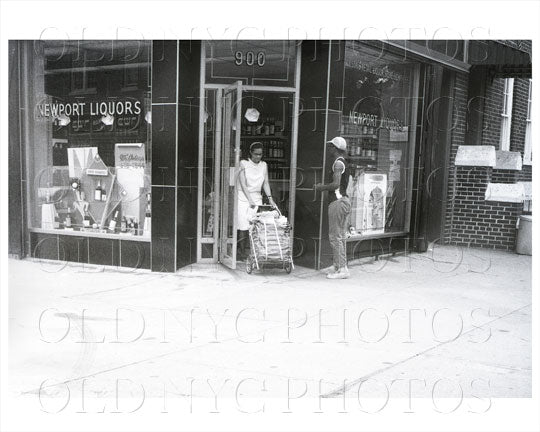 900 Saratoga Ave corner Newport Brooklyn, NYC 1966 Old Vintage Photos and Images