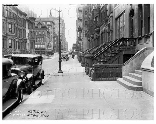 93rd St & 5th Ave East Manhattan NYC 1931 Old Vintage Photos and Images