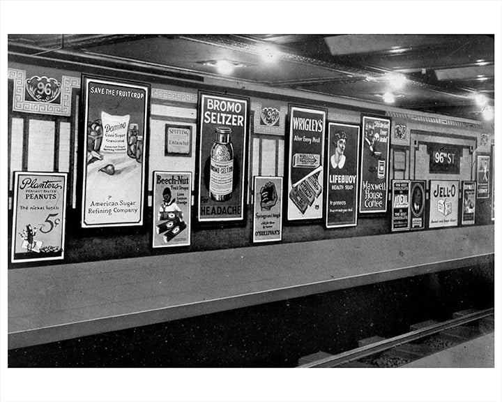 96th Street Subway Station Signs, Upper West Side NYC - 1925