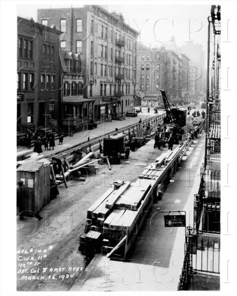 99th St between Columbus Ave & Amsterdam Ave Manhattan NYC 1934 Old Vintage Photos and Images