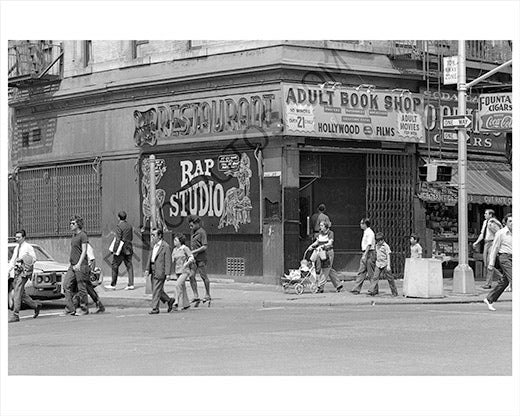 Adult book store Manhattan 1970