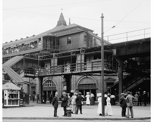Atlantic Avenue Subway Entrance, Brooklyn NY - 1910
