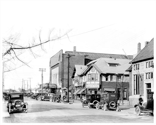 Forest Hills Theater, Austin Street & Continental Looking North East - 1924