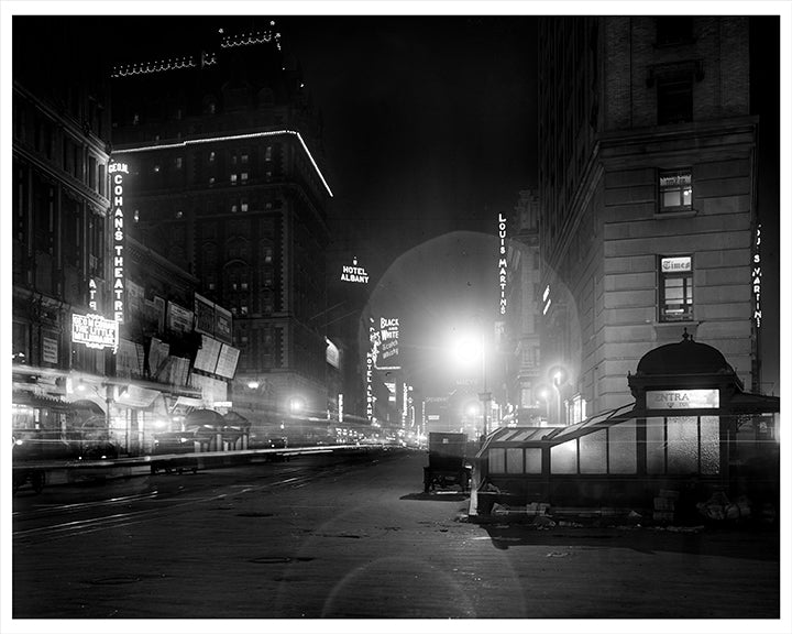 Broadway at Night From Times Square, NYC - 1912