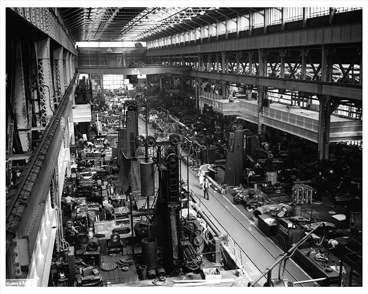 Old Vintage Brooklyn Navy Yard machine shop Photos, Pictures and Images
