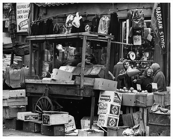 Brownsville market, Belmont Avenue, Brooklyn, New York 1962