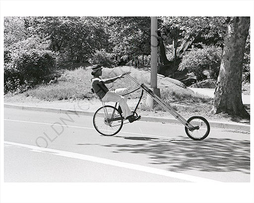Central Park Manhattan Guy on Bike chopper