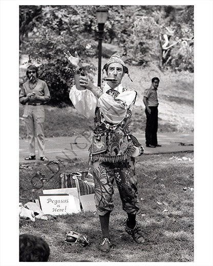 Central Park performer 1970 NYC