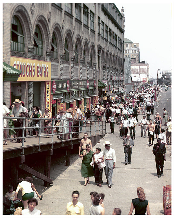 Coney Island Stillwell Avenue From Boardwalk 1951