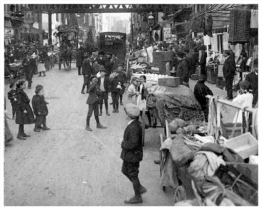 Crowded Hebrew District, Lower East Side, New York City - 1910