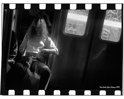 New York City Subway Traveler - 1989