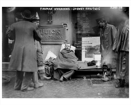 Fireman Recovering From Subway Fire 55th Street & Broadway NYC - 1915