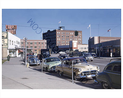Fulton Avenue East From High Street Hempstead 1954