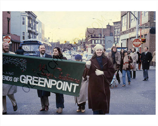 Greenpoint Christmas parade 1979