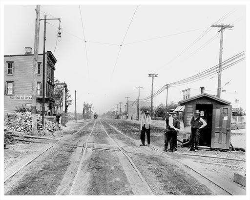 LIRR Crossing, Fresh Pond Road - Ridgewood Queens 1915