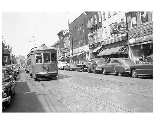 Belmont Avenue toward Pitkin Avenue Brooklyn - 1948