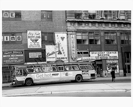 NYC Bus Drake School Manhattan 1970