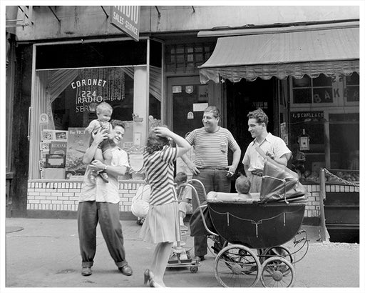Thompson Avenue, New York City Family Relaxing on Sunday - 1942