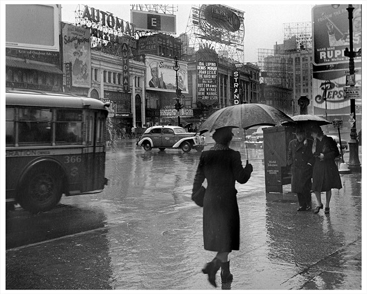 Times Square Rainy Day, New York City - 1943