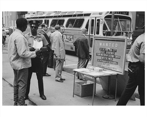 Police recruiting in New York City 1960s