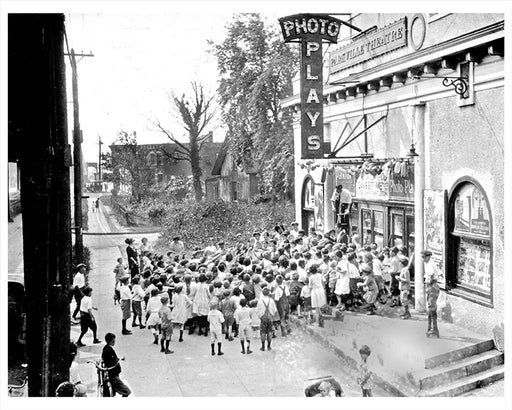 Kids at Parkville Theater, Parkville Brooklyn 1919
