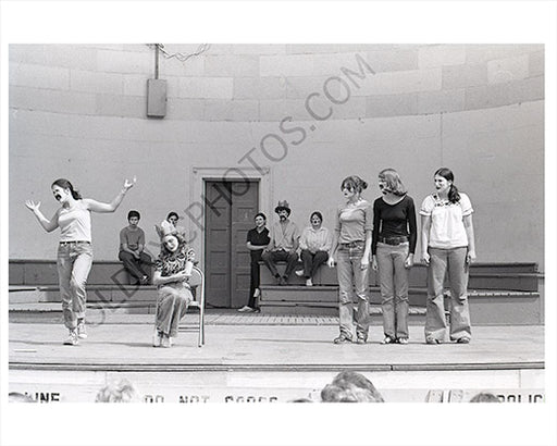 Performers at the Bandshell Central Park 1970s