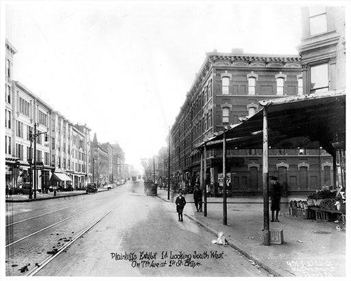 7th Avenue looking southwest to 1st Street; PS 321 now on the right, 1922 Park Slope