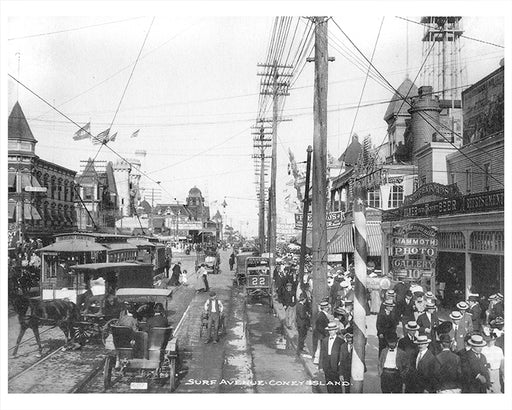 Surf Avenue Coney Island - 1905