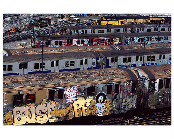 View From Broadway Junction L Train, East New York Brooklyn - 1983
