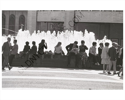 Water fountain NYC 1970s