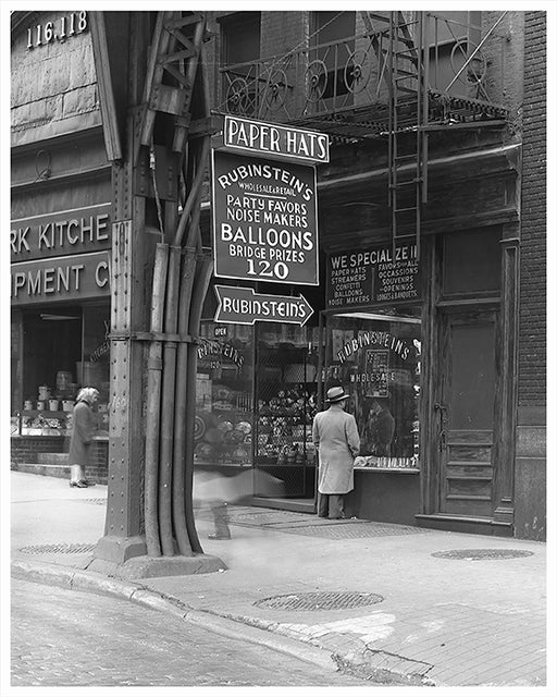 Rubinstein's, West Side of Park Row - New York City 1944