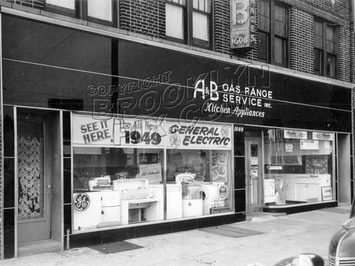 A&B Appliances at 1608 Coney Island Avenue, still in business! 1949 Old Vintage Photos and Images