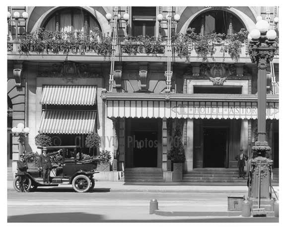 A close up Hotel Astoria - 7th Avenue between  44th & 45th Streets - Midtown - Manhattan  1914 Old Vintage Photos and Images