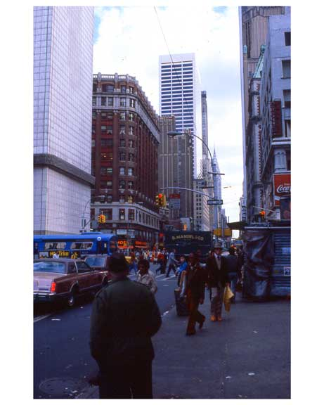 A few blocks south of the Chrsyler Building 1970s Manhattan Old Vintage Photos and Images