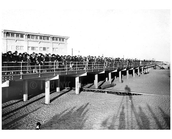 A view from the Boardwalk from the beach looking east from W. 5th street 1922 Old Vintage Photos and Images